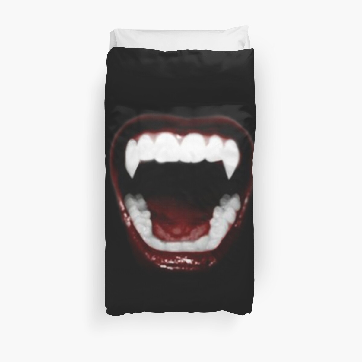 Quot Vampire Teeth Quot Duvet Covers By Levi Shock Redbubble