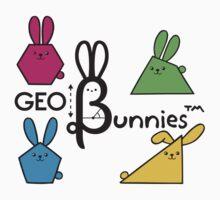 GeoBunnies Logo with Bunnies Kids Tee