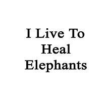 I Live To Heal Elephants  by supernova23