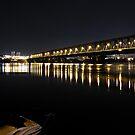 Bridge on Danub river by Aleksandar Topalovic