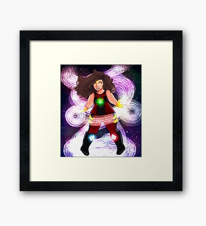 Cute Superhero Framed Print