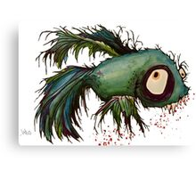 """ds"" the zombie betta fish Canvas Print"