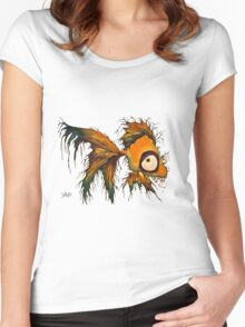gold fingerrrrr the zombie fish Women's Fitted Scoop T-Shirt