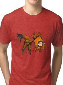 gold fingerrrrr the zombie fish Tri-blend T-Shirt