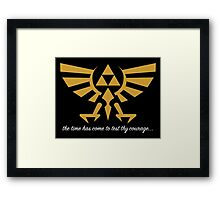 OCARINA OF TIME YEAH Framed Print