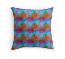 Purple, Blue and Red Watercolors  Throw Pillow