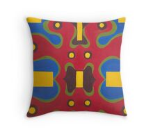 Red Doodle Throw Pillow