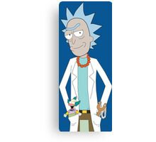 Rick and Morty/The Simpsons Crossover Canvas Print