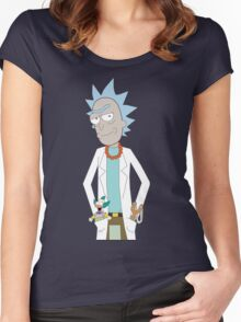 Rick and Morty/The Simpsons Crossover Women's Fitted Scoop T-Shirt