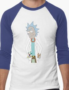 Rick and Morty/The Simpsons Crossover Men's Baseball ¾ T-Shirt