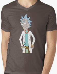 Rick and Morty/The Simpsons Crossover Mens V-Neck T-Shirt