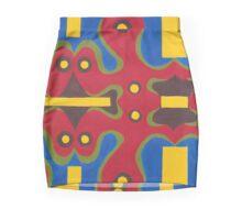 Red Doodle II Mini Skirt