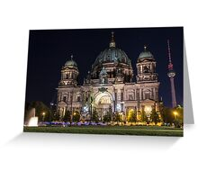Berlin Cathedral and Fernsehturm Greeting Card