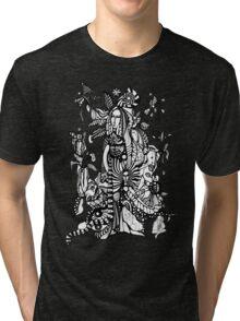 Spring night(black-and-whitr version) Tri-blend T-Shirt
