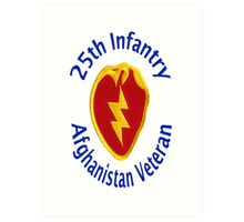 25th Infantry - Afghanistan Veteran Art Print