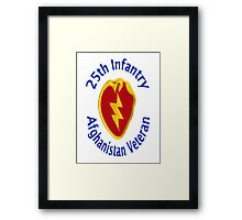 25th Infantry - Afghanistan Veteran Framed Print