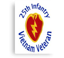 25th Infantry - Vietnam Veteran Canvas Print