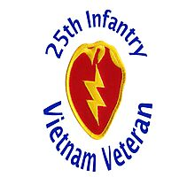 25th Infantry - Vietnam Veteran Photographic Print