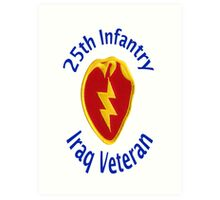 25th Infantry - Iraq Veteran Art Print