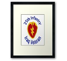 25th Infantry - Iraq Veteran Framed Print
