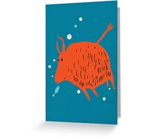 Water Buffalo Love Greeting Card