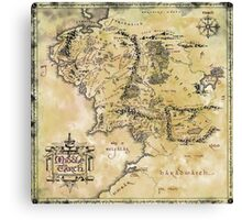 Map of Middle Earth Canvas Print