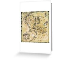 Map of Middle Earth Greeting Card
