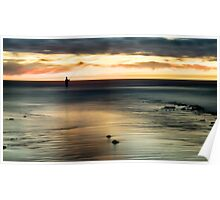 Sunset Fisherman at Port Noarlunga 1 Poster