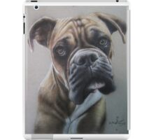 Boxer close up in colored pencil iPad Case/Skin