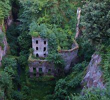 ruins below sorrento by Hannah Grubb