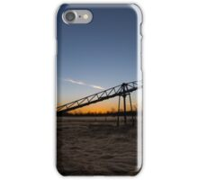 Manure stacking a sunset iPhone Case/Skin