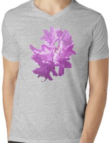 Purple Flowers Mens V-Neck T-Shirt