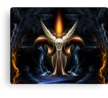 Winged Torch Of Arclairess Canvas Print