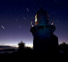 Lighthouse Star Trails by Soren Martensen