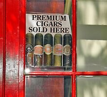 Premium Cigars Sold Here by Wendy Mogul