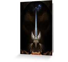 The Angel Wing Sword Of Arkledious Greeting Card