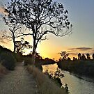 River Sunset at Bairnsdale by George Petrovsky