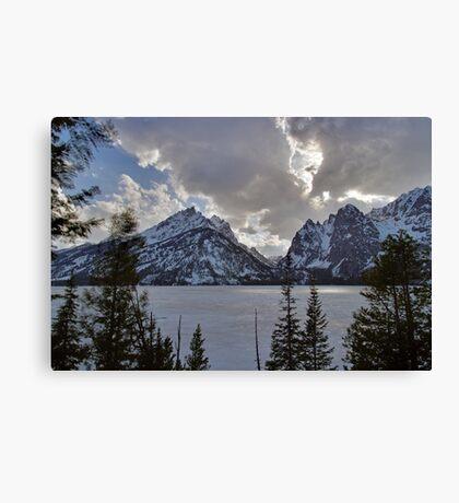 Frozen Jenny Lake - Teton National Park Canvas Print