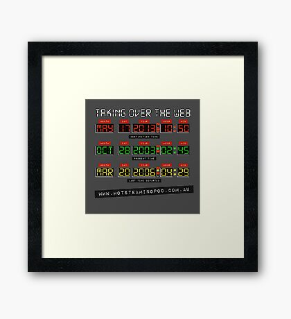 Hot Steaming Pod - Time to take over the net! Framed Print