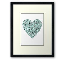 Blue Flower Heart Framed Print