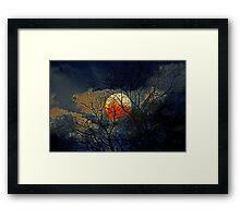 Bad Moon Rising Framed Print