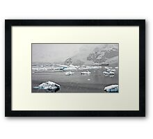 """""""Getting to old to be outside in this"""" ~ Paradise Bay, Antarctica Framed Print"""