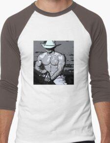Pink Nipple Men's Baseball ¾ T-Shirt