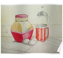 Kitchen still life Poster