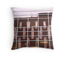 urban mirror Throw Pillow