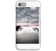 Birds eye Red Sea - muted iPhone Case/Skin