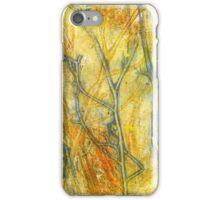 The Dangers of Fire Native Grasslands  Monoprint 1 iPhone Case/Skin
