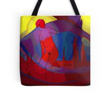 Red Nude at Sunrise Tote Bag