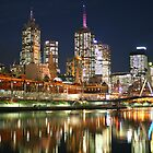 Melbourne at Night - Yarra River by DianaC