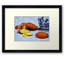ginger biscuits Framed Print